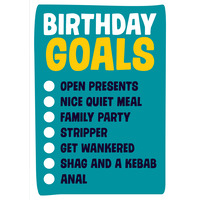 Birthday Goals Funny Birthday Card