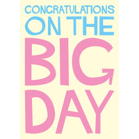 Congratulations On The Big Day Funny Birthday Card