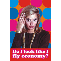 Do I Look Like I Fly Economy? Funny Fridge Magnet