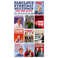 Fabulous Everyday Funny Card Pack of 10 Multipack For Guys