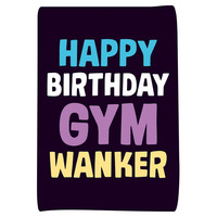 Gym Wanker Funny Greeting Card