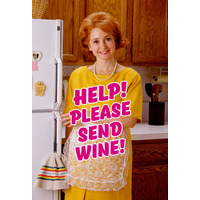 Help! Please Send Wine Funny Fridge Magnet