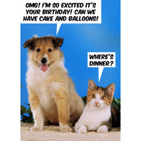 OMG! I'm So Excited it's Your Birthday Funny Card