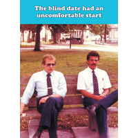 The Blind Date Funny Birthday Card