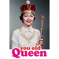 You Old Queen Funny Fridge Magnet