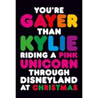 You're Gayer Than Kylie Riding A Pink Unicorn Funny Fridge Magnet