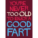You're Never Too Old To Enjoy A Good Fart Funny Birthday Card