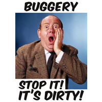 Buggery Stop It! It's Dirty! Funny Birthday Card