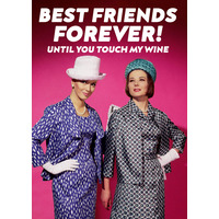 Best friends forever funny birthday card