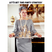 Let's get this party started funny birthday card
