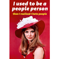 I used to be a people person Funny Fridge Magnet