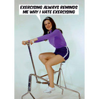 I hate exercising Funny Birthday Card